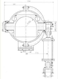 小天都水电站Φ1.6m球形阀的结构设计图片